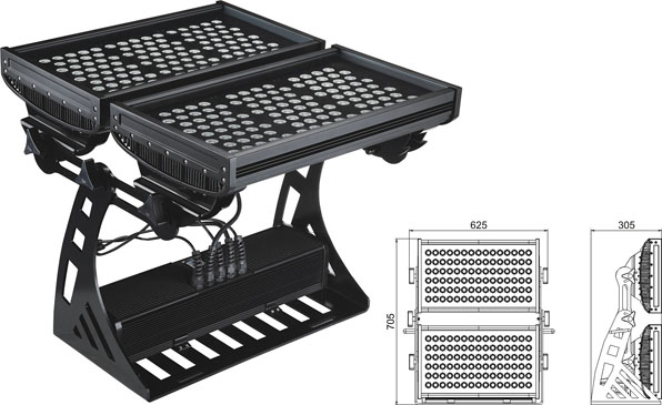 Led drita dmx,e udhëhequr nga puna,250W Sheshi IP65 DMX LED rondele mur 2, LWW-10-206P, KARNAR INTERNATIONAL GROUP LTD