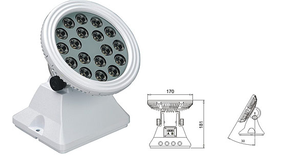 Led drita dmx,Drita e rondele e dritës LED,25W 48W Sheshi me rondele mur LED 1, LWW-6-18P, KARNAR INTERNATIONAL GROUP LTD