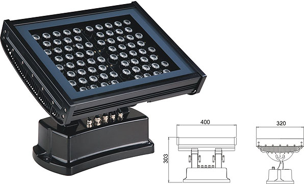 Led dmx işığı,tünel işıqını gətirdi,108W 216W kvadrat LED daşqın lişi 2, LWW-7-72P, KARNAR INTERNATIONAL GROUP LTD