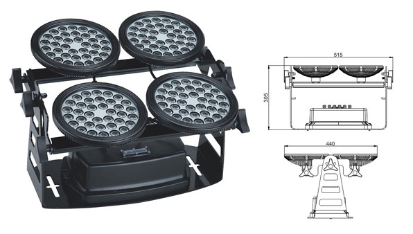 Led dmx işığı,LED daşqın işıqları,155W kvadrat LED daşqın lişi 1, LWW-8-144P, KARNAR INTERNATIONAL GROUP LTD